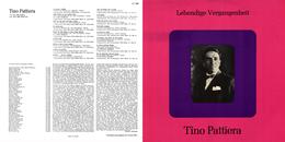 Superlimited Edition CD Tino Pattiera. LEBENDIGE VERGANGENHEIT. - Oper & Operette