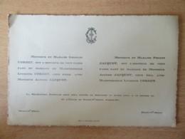 Joli Faire-part De Mariage - Morey St Denis En 1928 - Mariage