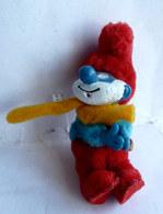 FIGURINE PINCE CRAVATTE GRAND SCHTROUMPF 1983 - Smurfs