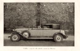 """#07 Reproduction Photo Publicitaire 1928 """"Cadillac, Coupé De Ville Cabriolet"""", Sur Carte Postale - Voitures De Tourisme"""