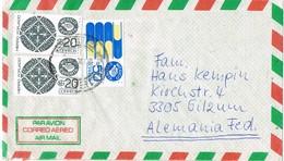 31574. Carta Aerea PUEBLA (Mexico) 1985 To Germany - Mexique