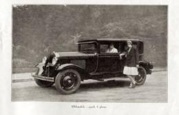 """#08 Reproduction Photo Publicitaire 1928 """"Oldsmobile: Coach 5 Places"""", Sur Carte Postale - Toerisme"""