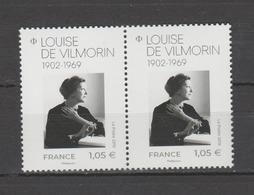FRANCE / 2019 / Y&T N° ?2019/02/11 ** : Louise De Vilmorin X 2 En Paire - Gomme D'origine Intacte - France
