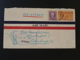 Lettre Recommandée Registered Air Mail Cover Cuba 1928 Ref 91153 - Cuba