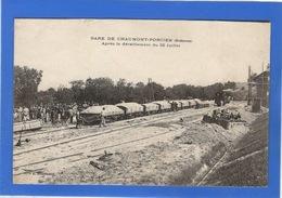 08 ARDENNES - CHAUMONT PORCIEN La Gare Après Le Déraillement Du 22 Juillet - Autres Communes
