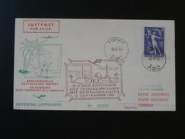 Lettre Premier Vol First Flight Cover 1956 Turku Finland ---> Hamburg--> Teheran Iran Lufthansa (ref 91374) - Finlande