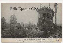 75 - PARIS - Grève Des Cheminots Du Nord - Cabine D'aiguillage Et Poste Occupés Par Les Soldats ++ E. Le Deley / ELD +++ - Métro Parisien, Gares