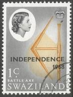 Swaziland. 1968 Independence O/P. 1c Used. SG 143 - Swaziland (1968-...)