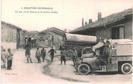 GUERRE 1914 1918 .... DOMBASLE .... LA RUE DE LA NATION DE LA MAISON BRULEE ... AMBULANCE - War 1914-18