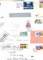 FRANCE MARCOPHILIE LOT DE TP SEULS SUR LETTRES ANNEES 90 - POIDS 890 GRAMMES - Timbres