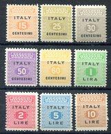 Z1390 ITALIA AMGOT 1943 Cifra, MNH, Serie Completa, Ottime Condizioni - Anglo-american Occ.: Sicily