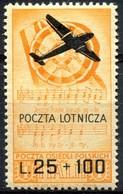 Z1398 ITALIA CORPO POLACCO 1946 Posta Aerea L. 25 + 100, Sassone A3, MNH, Valore Catalogo € 55, Ottime Condizioni - 6. 1946-.. Repubblica