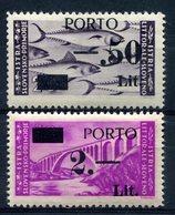 Z1401 ITALIA LITORALE SLOVENO 1946, Segnatasse, MNH, Serie Completa, L. 2 Con Decalco, Buone Condizioni - Yugoslavian Occ.: Slovenian Shore