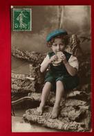 Jolie CP Fantaisie Enfant Fillette Casquette Goûter Scie à Métaux ... - CAD Matha 31-05-1914 & Fontaine Chalendray 1-06 - Scènes & Paysages