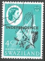 Swaziland. 1968 Independence O/P. 4c Used. SG 148 - Swaziland (1968-...)