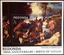 Antigua Redonda 1988 Titian Paintings Minisheet MNH - Antigua And Barbuda (1981-...)
