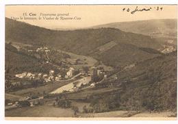 CPA : COO - Panorama Général , Dans Le Lointain, Viaduc De Roanne-Coo - Stavelot