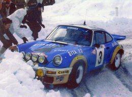 Porsche 911RS  -  Rallye Monte-Carlo 1978 - Pilote: Jean-Pierre Nicolas  -  CPM - Rallyes