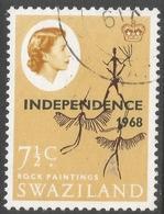 Swaziland. 1968 Independence O/P. 7½c Used. SG 150 - Swaziland (1968-...)
