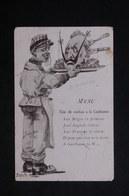 MILITARIA - Carte Postale - Carte Postale - Menu - Tête De Cochon à La Guillaume - L 22421 - Humoristiques