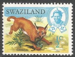 Swaziland. 1968 Animals. ½c MH. SG 161 - Swaziland (1968-...)