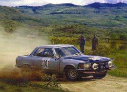 Mercedes 450 SLC  -  Rallye East African Safari 1979 - Pilote: Hannu Mikkola  -  CPM - Rallyes