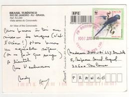 """Timbre , Stamp WWF """" Oiseau : Perroquet """" Sur Carte , Cp , Postcard Du 30/08/2001 - Brésil"""