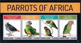 Bloc Sheet Oiseaux Perroquets Birds Parrots  Neuf MNH ** Sierra Leone 2013 - Parrots