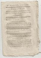 Bulletin De La Convention Nationale,l'an III, Passe-ports Pour La Hollande, 8 Pages , Frais Fr 1.95 E - Décrets & Lois