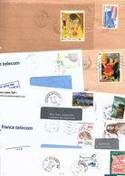 FRANCE MARCOPHILIE LOT DE TP SEULS SUR LETTRES ANNEES 90 - POIDS COLIS 3.100 GRAMMES - Timbres