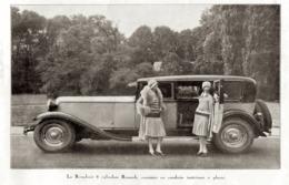"""#13 Reproduction Photo Publicitaire 1928 """"La Renahuit 8 Cylindres Renault, 7 Places"""", Sur Carte Postale - Voitures De Tourisme"""