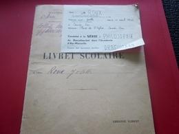 1950 Livret Scolaire Josette Roux Place L'église Carcés Var Née 1935 Cours épreuve Baccalauréat Philosophie+fiche Photo - Diplômes & Bulletins Scolaires