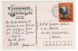 """Timbre , Stamp  """" Conférence Mondiale Contre Le Racisme """" Sur Carte , Cp , Postcard Du 03/??/2003 - Brésil"""