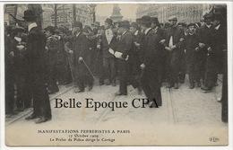 75 - PARIS - Manifestations Ferreristes - 1909 - Préfet De Police LÉPINE Dirige Le Cortège +++ ELD +++ Circulé Aux USA - France