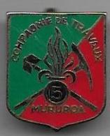 5e Rt Etranger - Compagnie De Travaux - Mururoa - Insigne Drago Paris Matriculé 212 - Armée De Terre