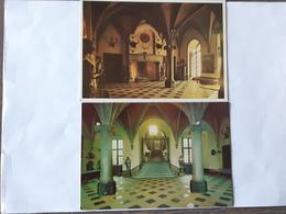 Lot De 2 Cartes Postales Couleurs Du Chateau Des Princes De Croy à Le Roeulx ... Lot Oli . - Le Roeulx