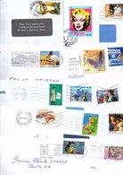 FRANCE MARCOPHILIE LOT DE TP SEULS SUR LETTRES APRES 2000 - POIDS COLIS 4.000 GRAMMES - Stamps