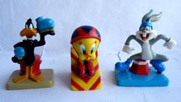 3 FIGURINES PRIME WEETOS 2002 WARNER DAFFY DUCK BUGS BUNNY TITI - Tintin