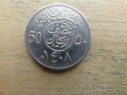 Arabie Saoudite  50 Halala  1408  Km 64 - Saudi Arabia