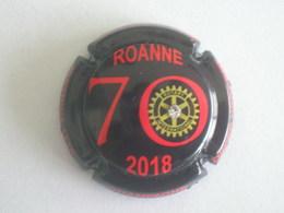 Capsule Champagne Herbert Didier., N° 197c?, Rotary Roanne 2018, Noir Et Rouge Avec Strass - Champagne