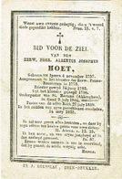 Eerwaarde Heer Albertus Josephus Hoet - Devotion Images