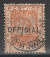 FAUX - FORGED - Guyane Britannique - British Guiana - Service - Official - YT 7 Oblitéré - Wmk Crown CA ! - British Guiana (...-1966)