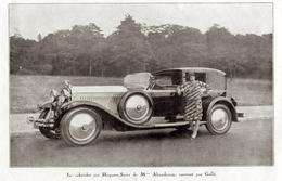 """#15 Reproduction Photo Publicitaire 1928 """"Le Cabriolet Sur Hispano-Suiza, Carrossé Par Gallé"""", Sur Carte Postale - Voitures De Tourisme"""