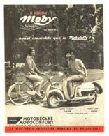"PUB   SCOOTER  ""MOBY  "" Et  MOBYLETTE "" MOTOBECANE ""  1957 (3) - Other"
