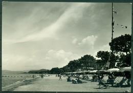 CARTOLINA - CV1696 PUNTA ALA (Grosseto GR) Ristorante Bar La Vela, La Spiaggia, FG, Viaggiata 1963, Ottime Condizioni - Grosseto