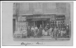 """RARISSIME Et Superbe Carte Photo - MONTCEAU 71 - Magasin De Vêtements """"A La Ville De Montceau"""" - 1903 - TTB - Montceau Les Mines"""