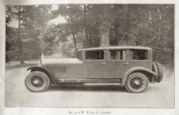 """#16 Reproduction Photo Publicitaire 1928 """"La 24 CV Voisin 6 Cylindres"""", Sur Carte Postale - Voitures De Tourisme"""