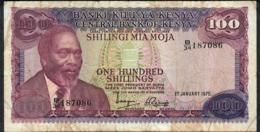 KENYA P14b 100 SHILLINGS 1975 #B/34 FINE NO P.h. - Kenya