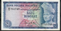 MALAYSIA P7 1 RINGGIT 1972 FIRST PREFIX D #D/4 VF - Malaysie