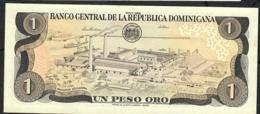 DOMINICAN REPUBLIC P126c 1 PESO ORO 1988 #L-V AU-UNC. - Dominicana